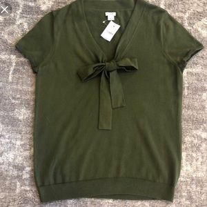 NWT J Crew bow front sweater